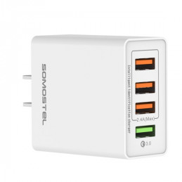 SMS-A08 4-Port Wall Charger...